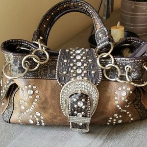 Montana West Buckle Concealed Carry Purse